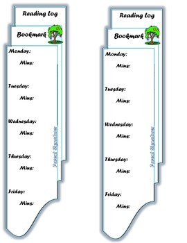 Reading Log Bookmark