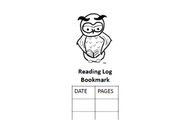 Reading Log Bookmark Tool