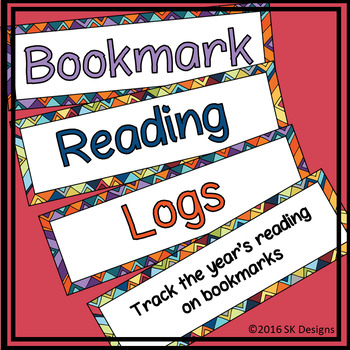 Reading Log Bookmarks with Elements of Fiction Project Pri