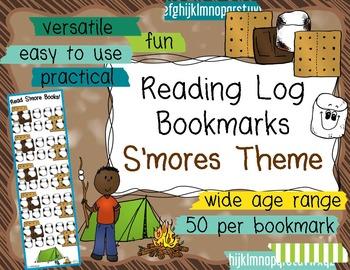 Reading Log Bookmarks - Smores Theme