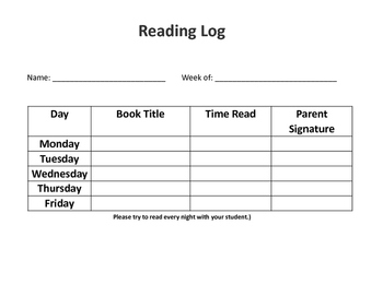 Reading Log Bundle