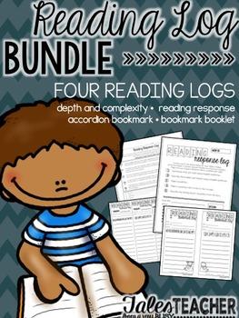 Reading Log Bundle {FOUR Reading Logs}