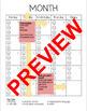 Reading Log Calendars + Student Behavior Tracker both Editable