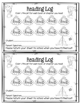 Reading Log {Camping}