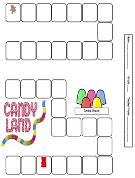 Reading Log Candyland Theme