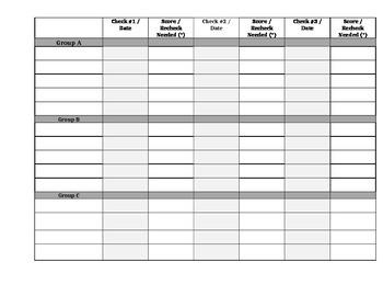 Reading Log Check -Tracking Sheet