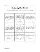 Reading Log Choice Boards