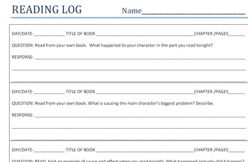 Reading Log Collection