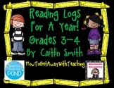 Reading Log Comprehension Questions Grades 3-4