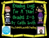 Reading Log Comprehension Questions For a Year Grades 2-3