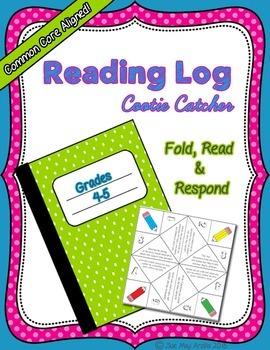 Cootie Catcher Reading Log, Grades 4-5