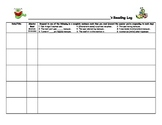 Weekly Reading Log Differentiated Student Responses