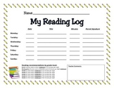Reading Log - Elementary School