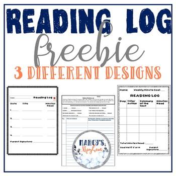 Reading Log- Elementary Students