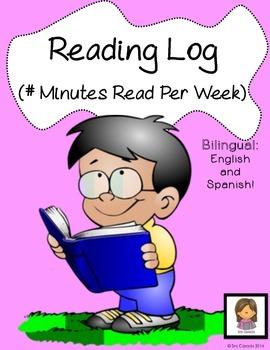 Reading Log (Bilingual English + Spanish) -- Minutes Read Per Week