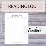 Reading Log Printable (FREE)