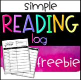 Reading Log FREEBIE