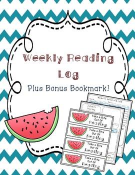 Reading Log FREEBIE Plus BONUS Bookmark