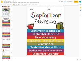 FREE Reading Log Flip Book