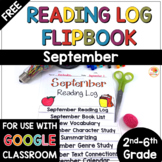 FREE Reading Log Flip Book