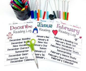 Reading Logs Flip Book FULL YEAR BUNDLE
