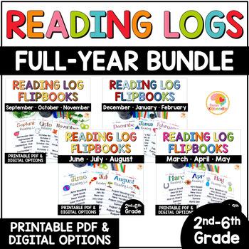 Reading Logs Flip Book FULL YEAR BUNDLE