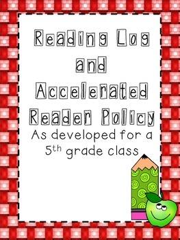 Reading Log Folder