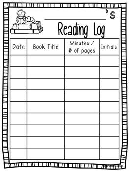 Reading Log - Free