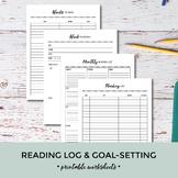 Reading Log & Goal Setting Worksheets