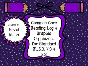 Standards Based Common Core Graphic Organizers & Log for RL.6.3, 7.3 & 8.3