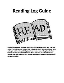 Reading Log Guide