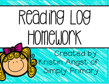 Reading Log Homework