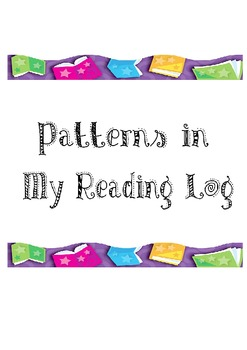 Reading Log: Looking for Patterns