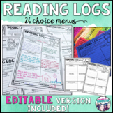 Reading Log Menus