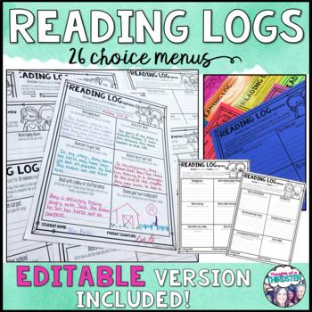 Reading Log Menus