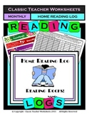 Reading Log Monthly Templates: Reading Rocks Reading Log - Bonus: Free Bookmarks