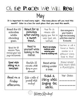 Reading Log Motivation Homework May Spring