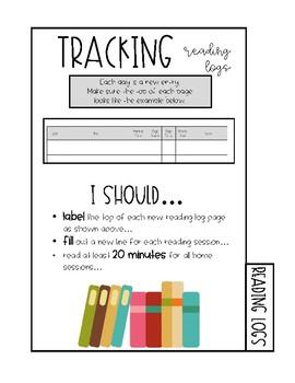 Reading Log Notebook Tab