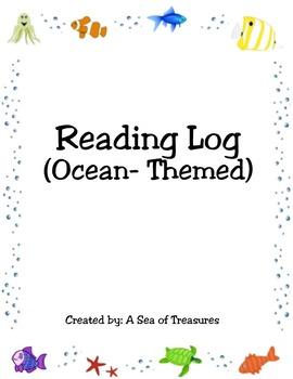 Reading Log (Ocean-Themed)