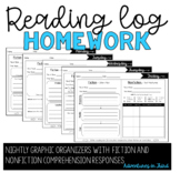 Reading Log Organizers for Homework