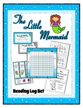 Reading Log / Poster Plus Set - Little Mermaid - Ocean ~