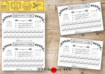 Reading Log Printable---Simple Minimalist