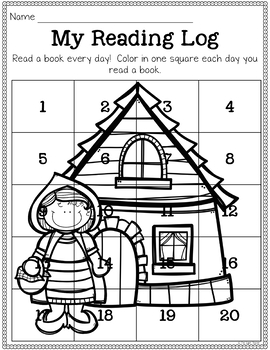 Reading Log Printables for Preschool and Kindergarten