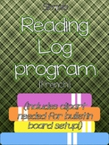 Reading Log Program (with logbooks and bulletin board setu
