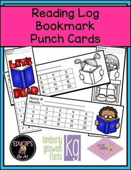 Reading Log Punch Bookmarks