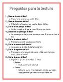 Reading Log Questions  Spanish