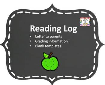 Reading Log, Reading Log Letter and Reading Log Grading Directions