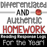 Reading Logs:  Homework for the YEAR! Parent Helper Component!