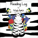 Reading Log - Reading Strategies Sentence Starters for Kids