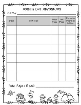 FREE Reading Logs {Reading is an Adventure!}